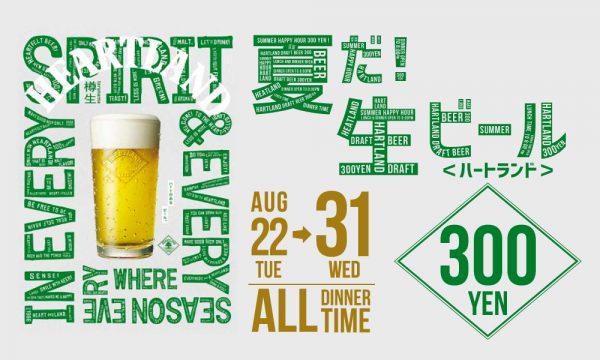 毎日、生ビール300円フェア開催!