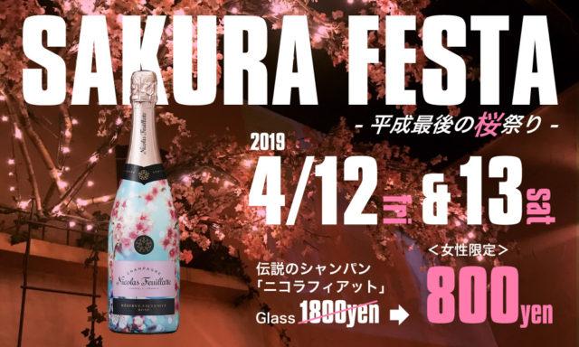 シャンパンで乾杯♪桜祭り開催!